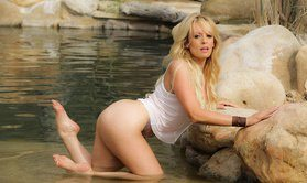 Sexy lesbians having passionate sex in an artificial pond-Official  WICKED PICTURES