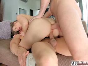 Taissia Shanti is satisfying two handsome dudes-Official All Internal