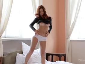 Lovely redhead girl Mia Sollis is proud of her body-Official Website WOWGirls.com