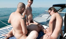 3 guys fucking a fat slut on the yacht-Official Website FUN MOVIES