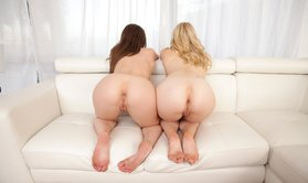 Hot chicks with amazing butts are ready for a threesome-Official Website NUBILES PORN