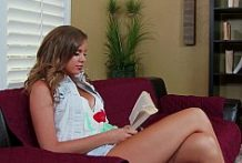 Alexis Is Horny After Reading The Book-Official Website NaughtyAmerica