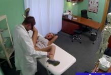 Sexy blonde babe is satisfied by doctor's examination-Official Website FakeHospital911.com