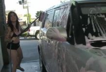 Joanna Angel is washing Small Hands's new car-OW Burning Angel