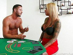 Tattooed punk girl lost her pussy in poker-OW Naughty America