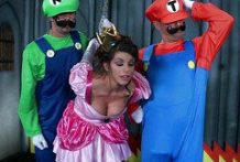 Mario and Luigi fuck sweet princess-Official Website Brazzers