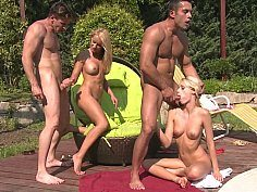 Two Blonde Euro Girls Get Fucked By The Pool-Official Website Reality Kings