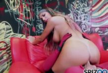 Big titted sweetie August Ames will be riding a shaft-OW Spizoo