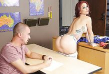 Dirty redhead professor seduces her student-OW Brazzers