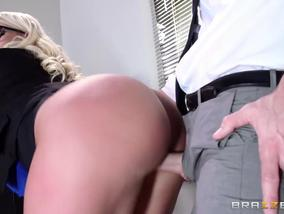 For Julie Cash there is no office without fucking and cum-OW Brazzers