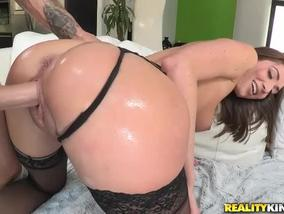 Sexy girl Vivie Delmonico rides the cock like a cowgirl