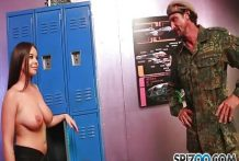 Military Sexy Pornstar Rachele Busty Suck In Room-OW Spizoo
