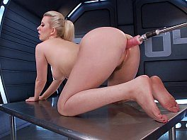 Fucking Machines Blonde Girl Cherry Torn