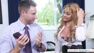 Office Girl Skyla Novea Gets Suck Levi Cashs Cock