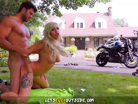 Moto Girl Vyxen Steel Fucked Outdoor