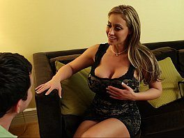Young Man Called To Extra Big Tited MILF Eva Notty