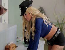 Sexy Big Tited Blonde Cop Capri Cavanni Arested Big Dick