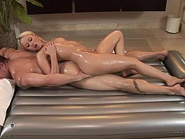 Sexy Massage Babe Rebecca Blue With Oiled Body