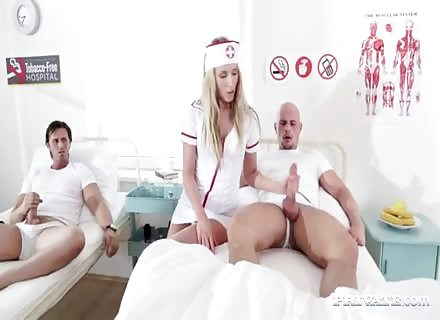 Double Penetration With Sexy Nurse On Hospital