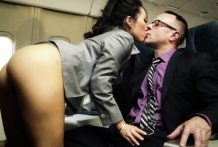 Sexy Asian Hostes Asa Akira Gets Fuck With Passenger