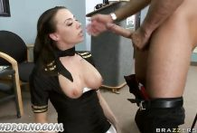 Horny Passanger Gets Bang Sexy Hostess