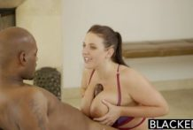 Big Black Cock On Angela White s Natural Tites