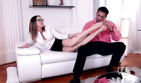 French Babe Yasmin Scott Can Make Best Footjob To Her Boss