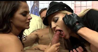 Hotty Cop Girls Black Angelika And Cindy Behr Gets Arest A Guy