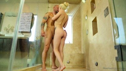2707 Oiled Porn After Sexy Bathroom Massage By Elsa Jean