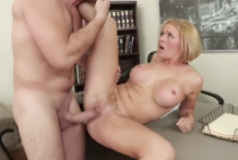 2643 Young Boss Loves Titjob In Porn Office With Sexy Blonde