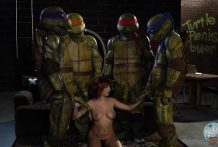 2843 Ninja Turtles Parody Porn Movie With Sexy April O'Neil
