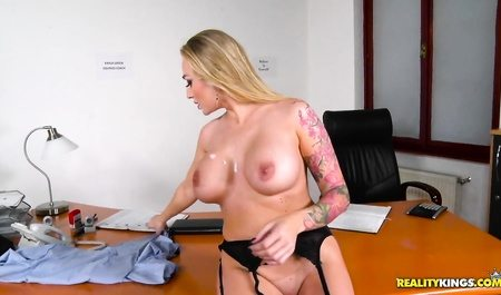3051 Blonde Tattooed Secretary Kayla Green By Worker