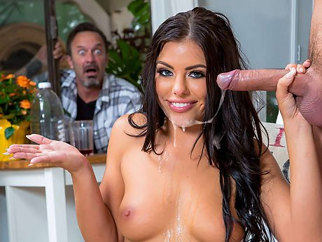 3148 Brunette Babe Adriana Chechik Will Give Cock Hard