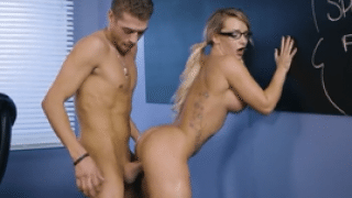3220 College Girl Cali Carter Gets Fuck In Classroom By Her Classmate