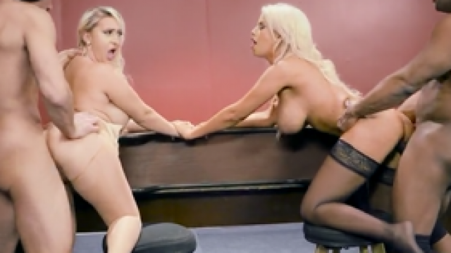 3349 Two Blonde And One Black Cock Well Everybody Ready For Hard Sex