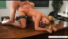 3476 Brazzers College Porn By Blonde Teacher