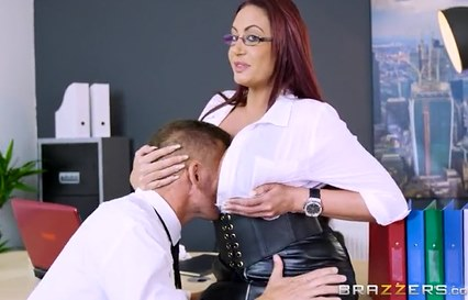 63-Exclusive-Redheah Secretary Emma Butt Plays Cock Games At Work