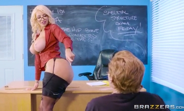 82-Exclusive-My Hot Teacher Nicolette Shea Loves Only My Cock