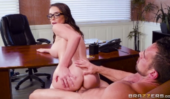 120-Exclusive-Ashly Anderson's Big Tits At Work