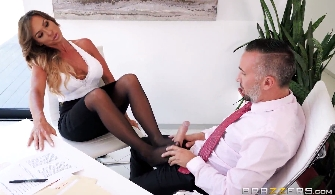 133-Exclusive-Big Boobs And Footjob Office