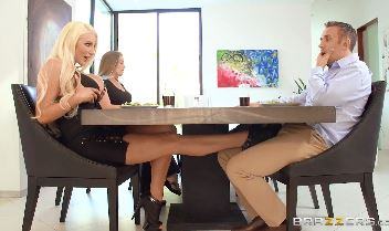 3795 Nicolette Shea Makes Footjob Under Desk