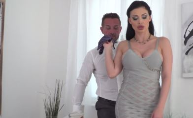 169-Exclusive-European Pornstar's Slicon Boobs At Work
