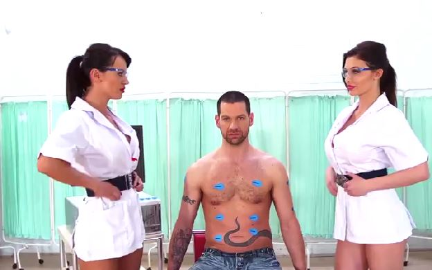164 European Nurse Threesome