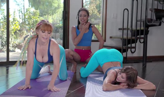 521-Exclusive- Yoga Lesbians Penny Pax, Alexis Fawx And Kira Noir