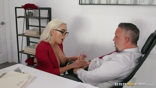 1104 Office Cock Riding With Busty Blonde Porn