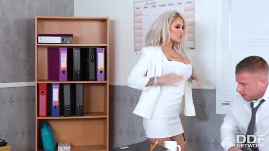 892-Exclusive- Busty Blonde Secretary Gets Fucked Her Tits Porn