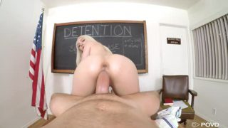 939-Exclusive-White Haired College Babe Gets Fucked Her Pussy